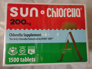 Sun Chlorella A 200mg 1500 Tablets Exp. 12/2021 Brand New, Factory Sealed
