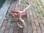 Antique Vintage Amf Junior Red Tricycle Needs Work Pick Up Only