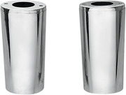 Drag Specialties Chrome +4 Smooth Fork Slider Covers Boots For Harley-davidson