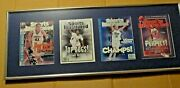 Framed University Of Connecticut 4 Sports Illustrated Ncaa Champions Magazines