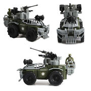 31cm Military Armored Car Model Kits With Soldier Model Figure Gift Toys Kids