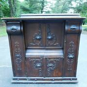 Antique Late 1800and039s Sewing Machine Cabinet...furniture..table..base...