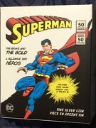 Dc Comics - Limited Edition Silver Coin Stamp Collection Superman Dvd Supergirl