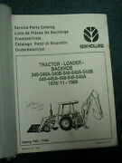 Ford New Holland Parts Catalog Tractor Loader Backhoe 340ab 540 Ab 445ab