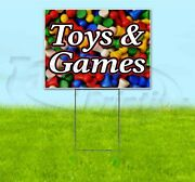 Toys And Games 18x24 Yard Sign With Stake Corrugated Bandit Usa Business Kids