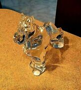 Baccarat Clear Crystal Boxer Dog Figure