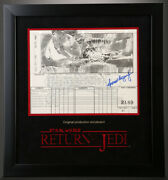 Star Wars - Ep Vi - Rotj Signed Production Storyboard - Falcon And Reactor J04