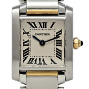 Tank Francaise W51007q4 Small Stainless Steel Yellow Gold 2yrwty 519