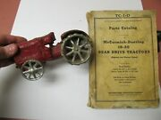 Mccormick Deering Cast Iron Antique Toy Tractorandnbspand Manual - Purchased In 1928