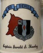 U.s. Army 2nd Battle Group 60th Infantry Beer Stein Mug, Go Devils, Naked Woman