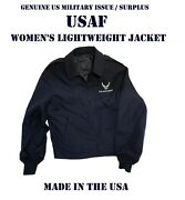 Air Force Womenand039s 10l Usaf Logo Jacket Lightweight With Liner Service Dress Blue