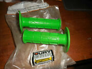 Oury Bmx Waffle Grips Green Flange