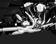 Vance And Hines Chrome Power Duals Motorcycle Headpipes 09-16 Harley Touring Flhx