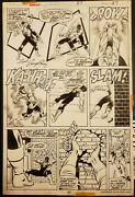 Marvel Power Man 27 Pg 27 Original Art Page Signed By George Perez 1975 Cage