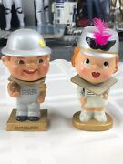 1960and039s Vintage Kissing Pittsburgh Steelers Bobblehead My Hero Kissing Dolls