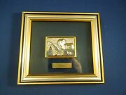 Framed Original Metal Relief Sculpture Plaque Mounted On Glass By Valenti 1