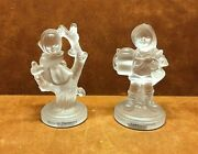 1992 Goebel Frosted Crystal Collection Figurines Apple Tree Girl And For Father