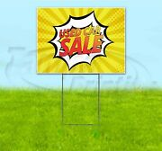 Used Car Sale 18x24 Yard Sign With Stake Corrugated Bandit Business Dealership