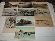10 1910-40's Warroad And Lake Of The Woods Minnesota Postcards 3 Real Photo Rppc