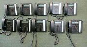 Lot Of 10 Fortinet Fon-450i Ip Phone W/ Start Guide Handset And Stand Included.
