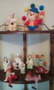 Enesco Clown Figurines All 9 Items In Great Cond.