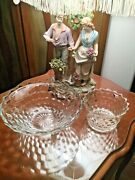 Gorgeous Fostoria Vintage Crystal Cut Punch Bowl/compote Bowl