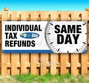 Individual Tax Refunds Advertising Vinyl Banner Flag Sign Many Sizes Usa Efile