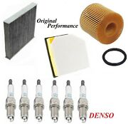 Tune Up Kit Air Cabin Oil Filters Spark Plugs For Lexus Gs350 V6 3.5l 2wd 2017
