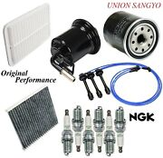 Tune Up Kit Filters Wire Spark Plugs For Lexus Es300 V6 3.0l From 8/01 2001