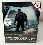 Captain America The Winter Soldier [2d + 3d] Blu-ray Steelbook [thailand]