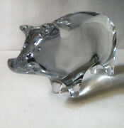 Baccarat Crystal Pig Paperweight/figurines