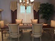 Karges Louis Xvi Style Dining Table And Six Matching Chairs — Limited Sale