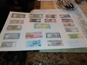Arab League Arabic Speaking Countries Banknotes 18 Pieces All Uncirculated.