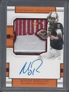 1/1 Mason Rudolph 2018 National Treasures Red Logo Patch Auto Rc D 2/5 Jsy 2