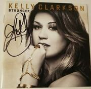 Stronger By Kelly Clarkson Cd Oct-2011 Rca Autographed- Free Shipping- Usa