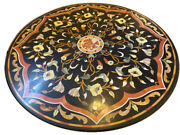 42 Marble Center Table Top Inlaid Pietra Dura Work Art Home Decor
