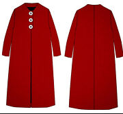 Ready Made Marvellous Mrs Maisel Season 3 Red Wing Coat With Three Big Buttons M