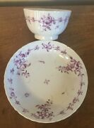 Antique Chinese Export Porcelain Tea Cup Bowl And Saucer Famille Rose 18th Century