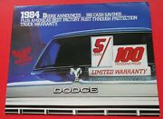 1984 Dodge Truck Year Of The Ram Poster Style Handout Brochure...free Shipping