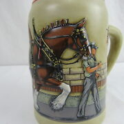 World Famous Budweiser Clydesdale- Parade Dress 1989 Anheuser Vintage Beer Stein