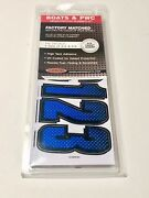 3 1/2 Inch Blue / Black Shaded Boat Letters And Numbersstickersnumber Kit