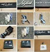 1967 Buick Skylark Parts - Nameplate -emblems -switches - 12 Choices