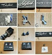 1967 Buick Skylark Parts - Nameplate -emblems -switches - 11 Choices