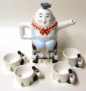 Humpty Dumpty Tea Pot Set New In Box Department 56 Storybook Collection