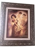 Someday Disney Fine Art By Noah Framed Limited Edition Giclee Canvas Snow White