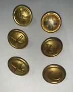 Rare Original Us Army 1881 Dress Helmet Side Buttons Indian Wars 6 Different