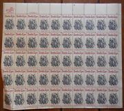 Horatio Alger Full Sheet Stamp 50 20 Cent Stamps Uncirculated