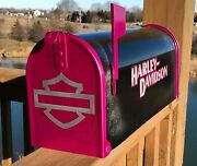 Custom Airbrushed Harley Davidson Mailbox - All Paint, No Stickers - Free Ship