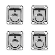 Qty 4 Lift Handle Hatch Stainless Steel Marine Flush Pull Latch Deck Lift Hinges