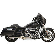Bassani Short Road Rage Iii Stainless 2-into-1 Exhaust Harley 17-19 Flht Flhr